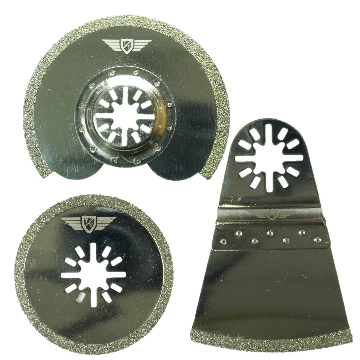 Makita Milwaukee Einhell Hitachi Parkside Ryobi Worx Workzone Multitool Outil multifonction Accessoires Pas StarLock 3 x TopsTools UNK3DB Diamant Lames de joint pour Bosch Fein