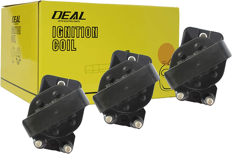 DEAL Pack of 3 New Ignition Coils For Chevrolet Buick Cadillac Honda Isuzu Oldsmobile Pontiac 2.8L 3.1L 3.2L 3.3L 3.4L 3.8L V6 Replacement# D555 DR39 E530C