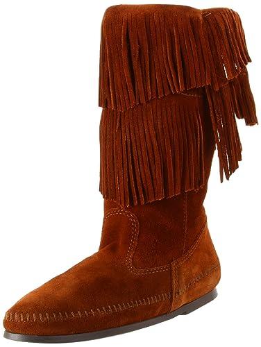 b43e336b2d51 Minnetonka Women s Calf Hi 2-Layer Fringe Boot