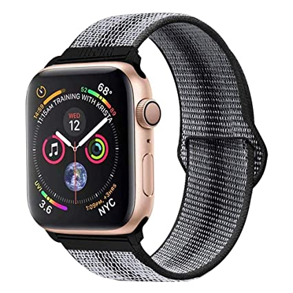 LITENG Band for Apple Watch Band 38mm 42mm 40mm 44mm Soft Breathable Nylon Sport Loop Wrist Strap Replacement Band for Apple Watch Series 4/3/2/1 ...