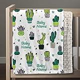 Baby Shower Gift Farm Cactus Bib, Unisex Baby Shower Gift Monogrammed Cactus Burp Cloth Personalized Cactus Burp Cactus Baby Gift