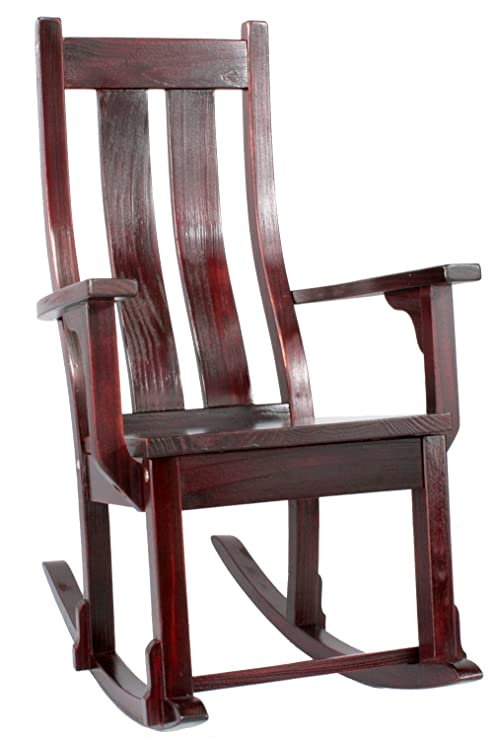 Amazon Com Over The River Studio Solid Wood Rocking Chair Wooden