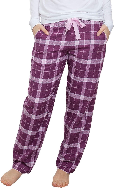 Cyberjammies 3832 Women's Fiona Magenta Purple Check Pajama Pyjama Pant