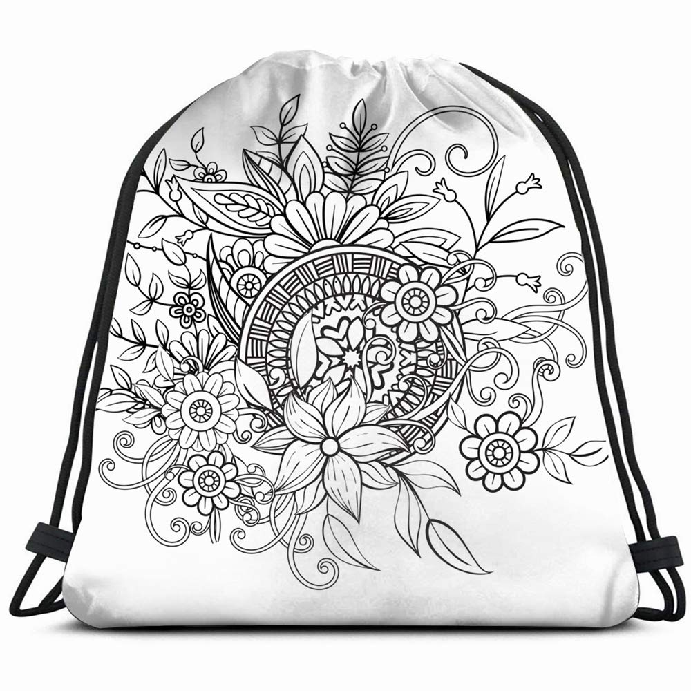 Amazon Com Floral Pattern Black White Adult Coloring Backgrounds