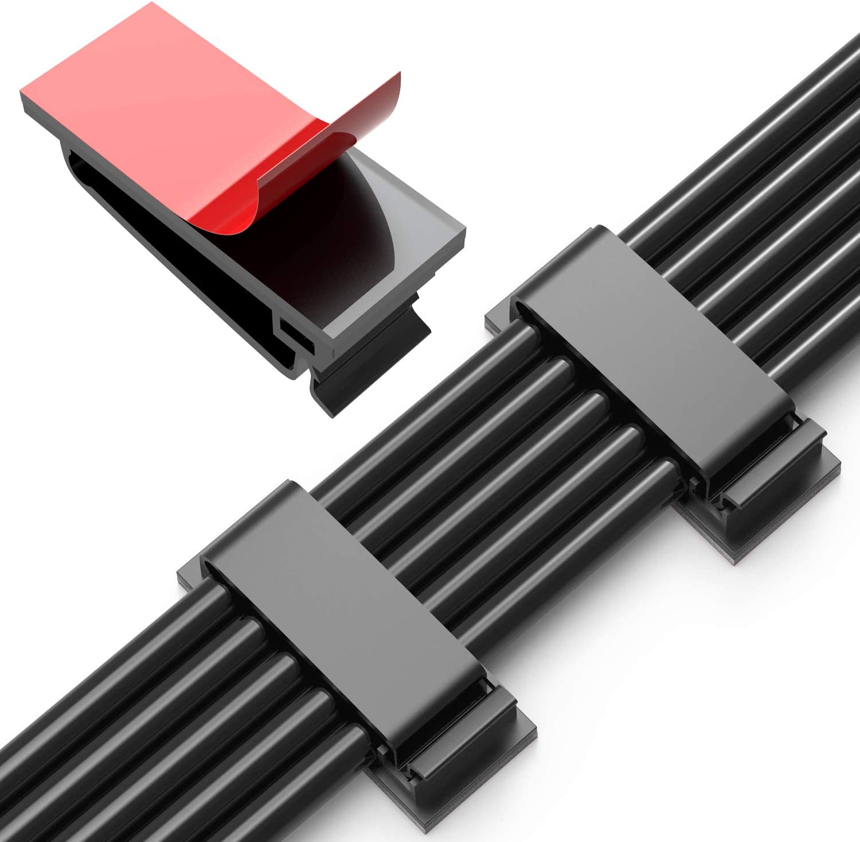 Transparente Kabel-Clips B/üro stark selbstklebende Kabel-Halterung Kabel-Organizer f/ür Zuhause Garage und Werkstatt langlebig 60 St/ück