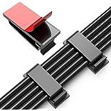 JIRVY 50 stycken kabelklämmor självhäftande kabelhanteringsklämmor kabelhållare för TV-PC laptop Ethernet-kabel Desktop…