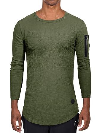 new styles e726f 53a11 AitosuLa Langarmshirt Herren Long Sleeve T-Shirt Rundhals Einfarbig Base  Tops Oberteile Langarm Shirt Slim Fit Basic Casual Tee Pullover Bluse