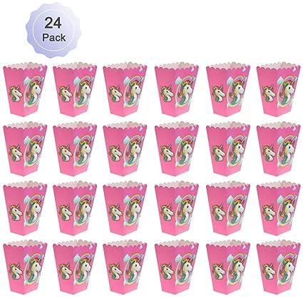 Amazon.com: Unicornio cajas de palomitas Rainbow palomitas ...