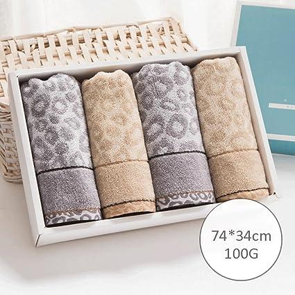 ZLR Toalla de algodón sólido a cuadros suave toalla de lavado absorbente (una caja de