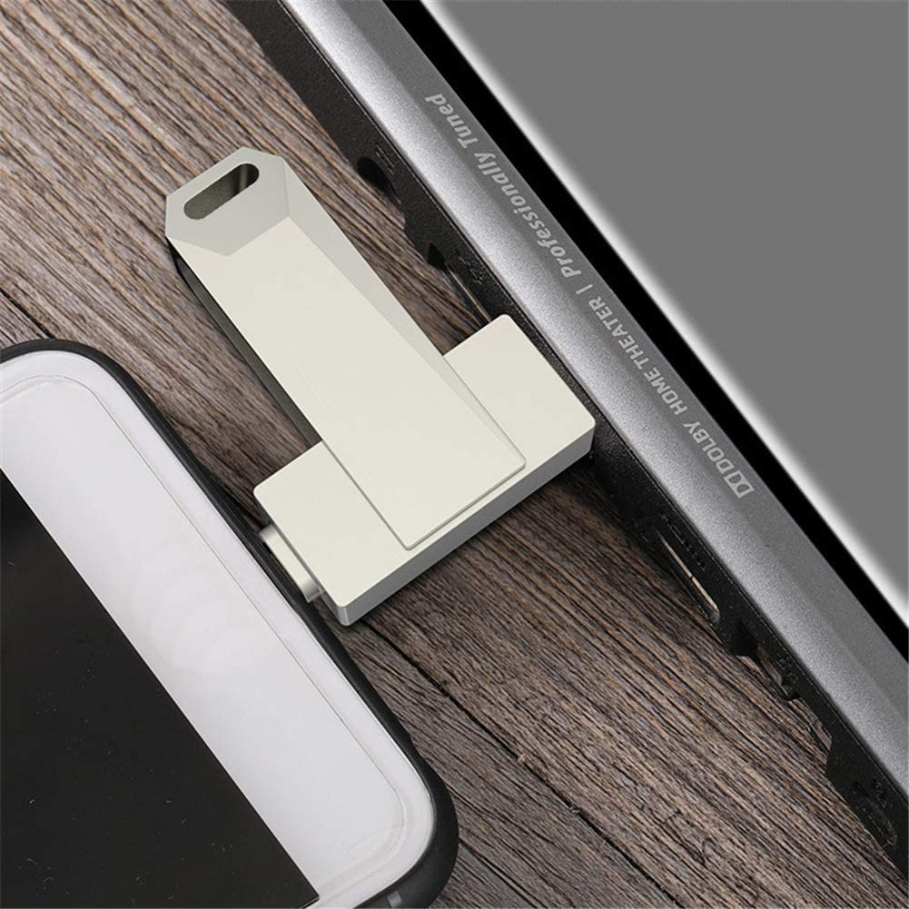 QinLL Multi-Functional USB Flash Drives,128GB//256GB Optional,USB C Memory Stick External Storage,USB Drive 3in1,Compatible iPhone iPad iOS MacBook USB Type C Android and Computers,aa,B,256GB