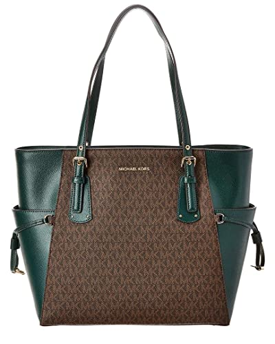 c6ec0a38bc35 Amazon.com  Michael Michael Kors Voyager East West Signature Leather ...