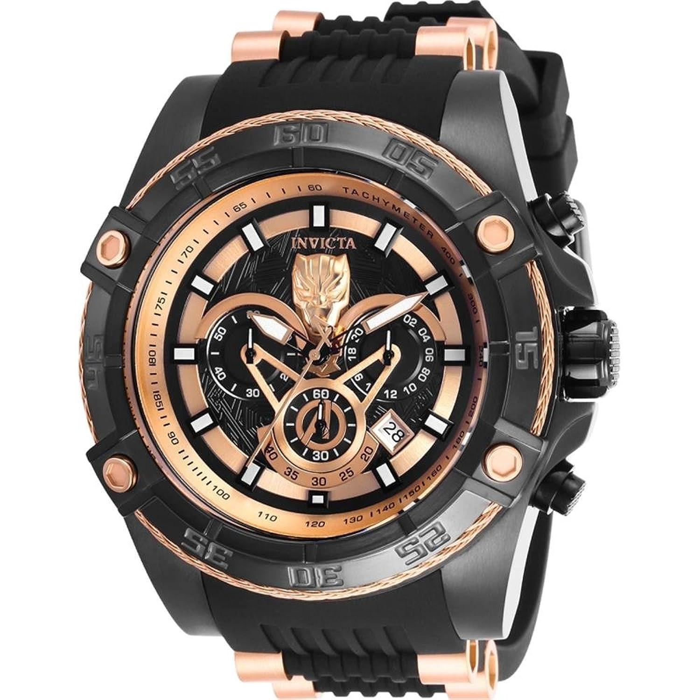 Invicta Men 's 26804 Marvelクオーツ多機能ブラックダイヤル腕時計 B07D9NGNN3