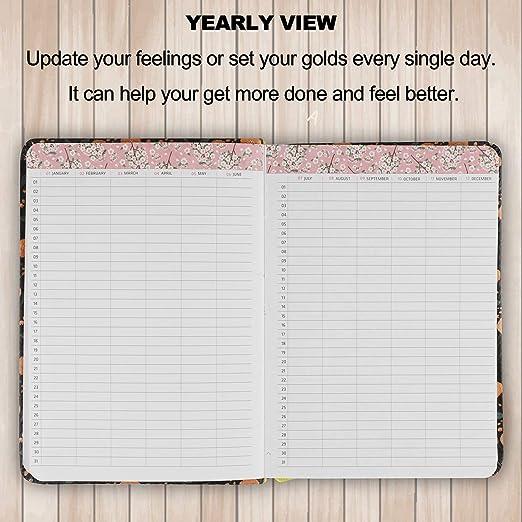 Calendario CALENDARIO organizador y planificador diario diario Notebook(Black Adonis)