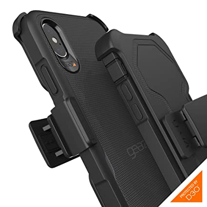 the latest 80d95 8a6b0 Gear4 Platoon Case with Holster with Advanced Impact Protection [ Protected  by D3O ], Tough, Ultra-Durable Design for iPhone X/XS - Black