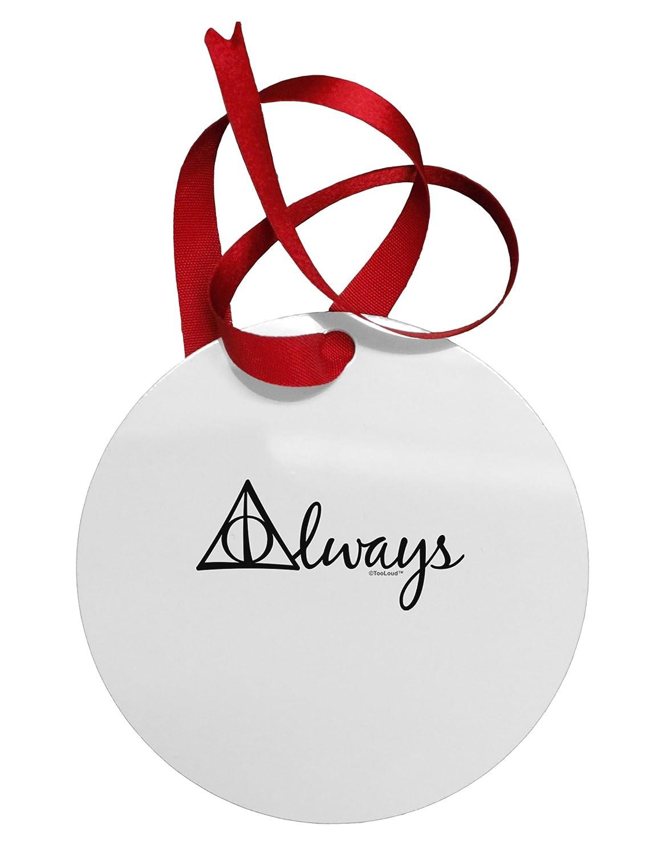 TOOLOUD Always Magic Symbol Cursive Circular Aluminim Christmas Ornament