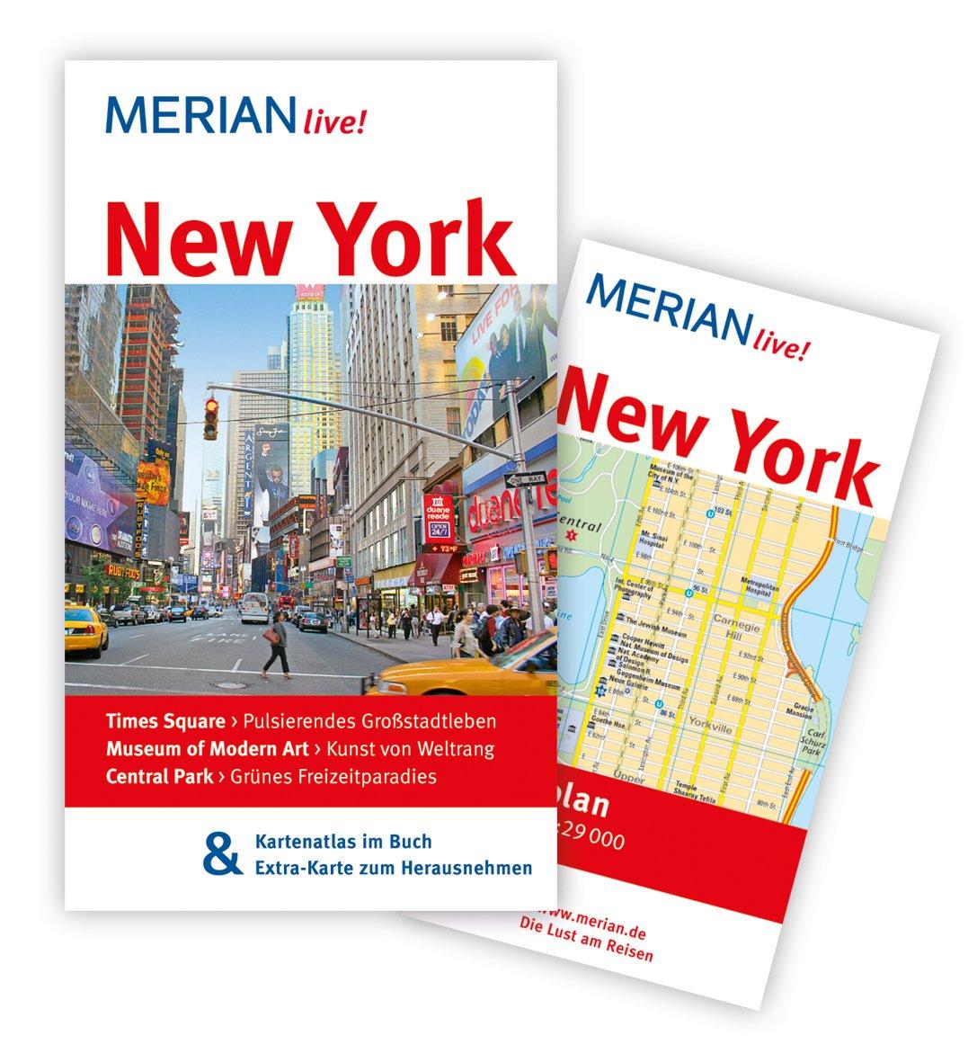 MERIAN live! Reiseführer New York: MERIAN live! – Mit Kartenatlas im Buch und Extra-Karte zum Herausnehmen