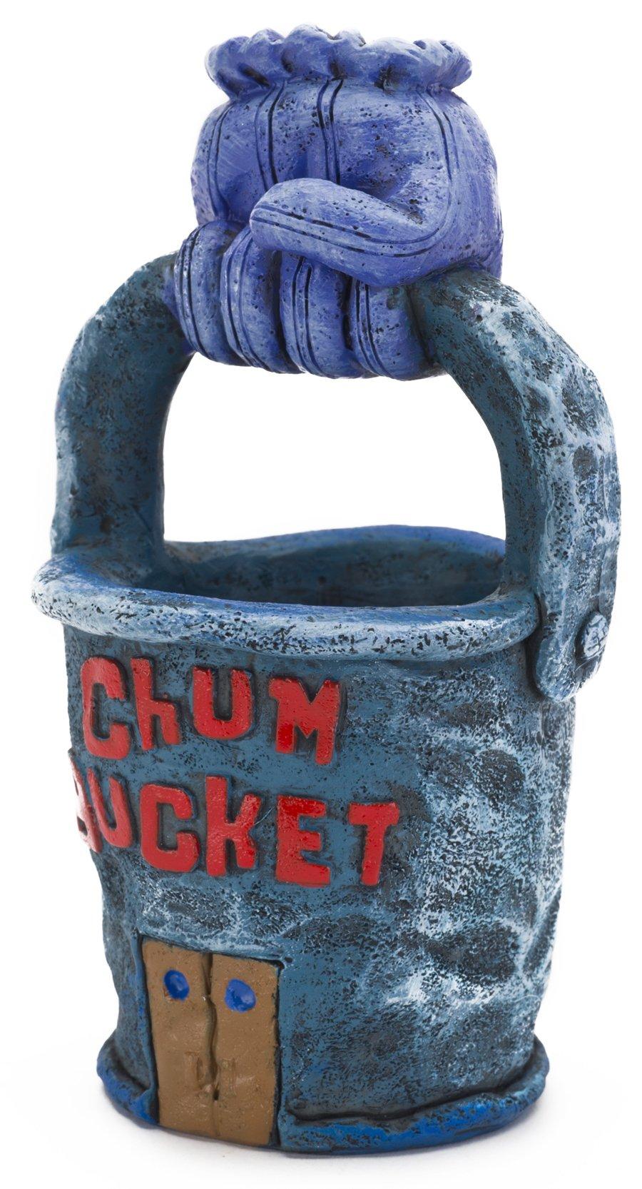 Nickelodeon Spongebob Squarepants Chum Bucket Aquarium Ornament, 4.25 by 2-1/2 by 2-1/4-Inch
