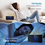 PICTEK Projection Alarm Clock, 15 FM Radio Alarm