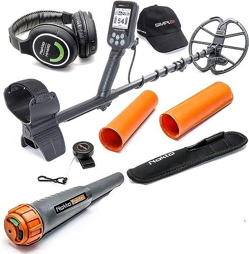 Nokta Simplex Submersible Metal Detector with Wireless Headphones and Waterproof Pinpointer