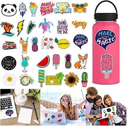30-Pack Waterproof Aesthetic Trendy Stickers for Water Bottle  Laptop Phone New