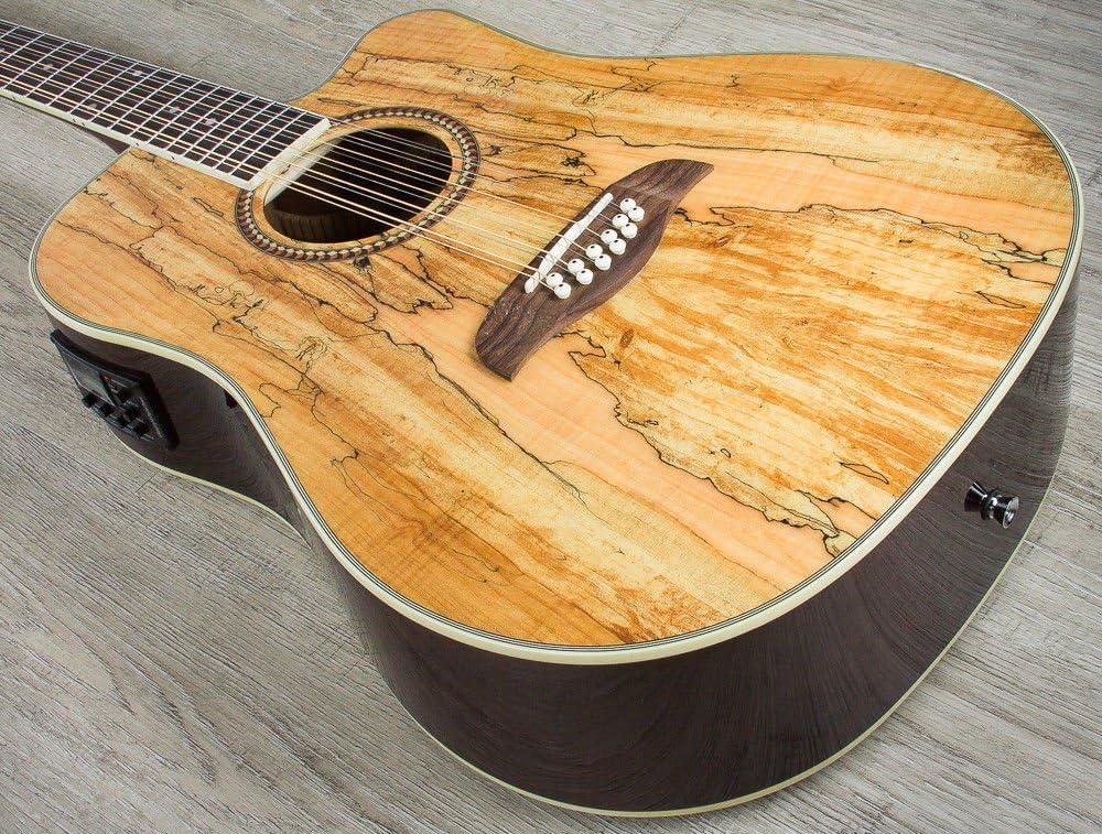 Oscar Schmidt OD312CE 12-String Acoustic-Electric Guitar Spalted Maple