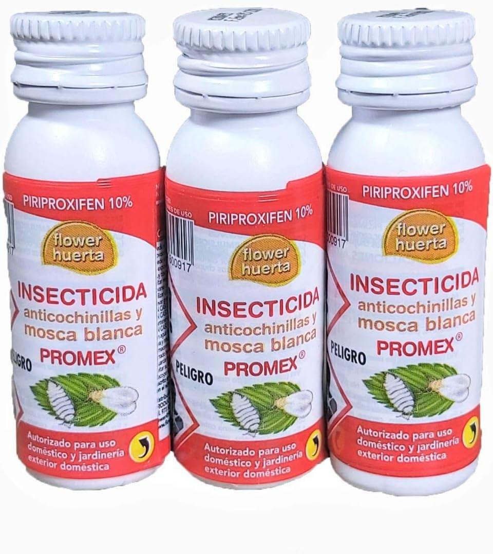Todo Cultivo Insecticida Anti cochinillas, piojos y Mosca Blanca, Piriproxifen 10% - Regulador del Crecimiento. Tratamiento válido para 45 litros de Agua (3 envases de 10 CC)