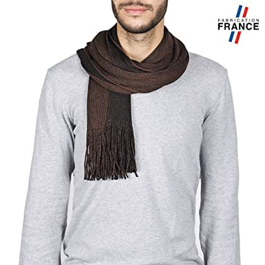 Qualicoq Echarpe Homme EMKA Marron - Fabriqué en France  Amazon.fr ... f7792311f9b