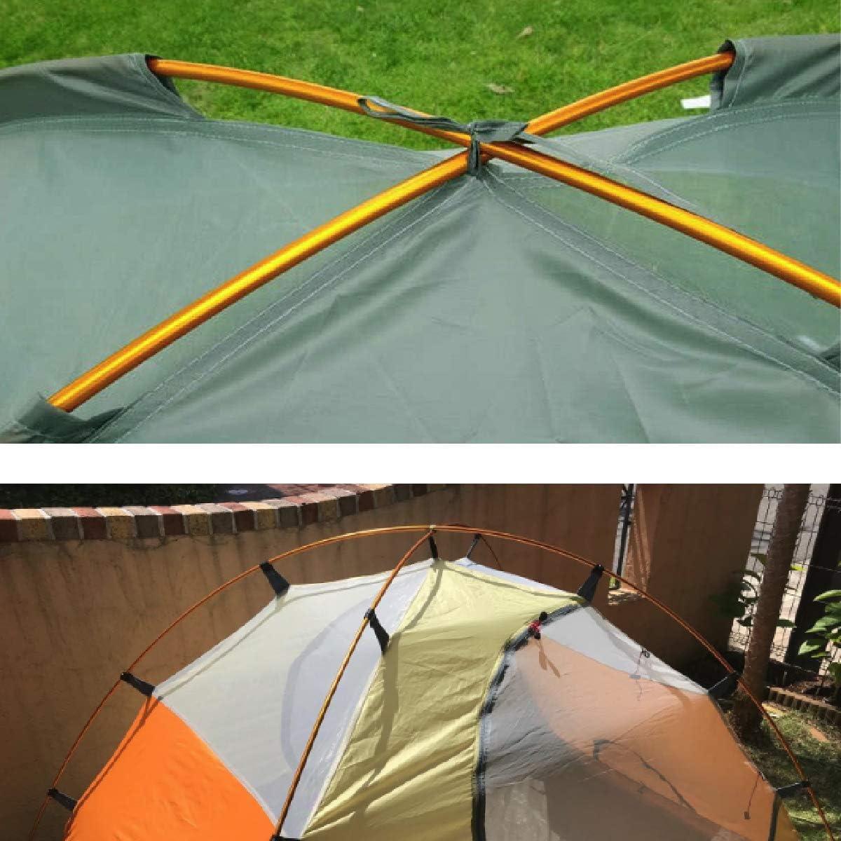Tente en Aluminium Rod Tole Accessoires de Remplacement Tente Bar Tente B/âtiment Support Tige Auvents Cadre Kit pour Randonn/ée Camping TRIWONDER Tente Polonais 2 PCS