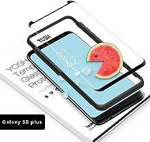 Pellicola Vetro Temperato per Samsung Galaxy S8+ Plus, YOSH [Non copertura completa] Protettiva Dello Schermo Protettore S8+ Plus [Compatibile con la Custodia, Resistente ai graffi ]1 Pezzo