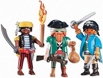 Playmobil 6434. Conjunto 3 piratas: Amazon.es: Juguetes y juegos