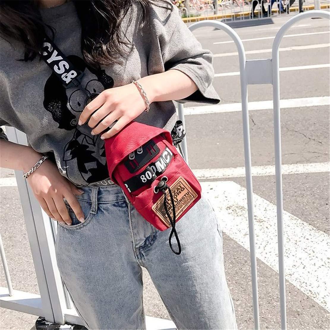 Skitor Bolso del Pecho Mujer Estampados Guapo Bolso de Honda Peque/ña Impermeable Sling Messenger Nylon Running Multiusos Bolso Cruzado Hombre Deportiva Moda Chest Bag Casual Bicicletas