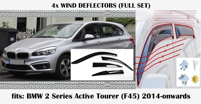 OEMM Lot de 4 d/éflecteurs dair compatibles avec BMW S/érie 2 F45 Active Tourer D/éFLECTEURS de Fen/être 2014 2015 2016 2017 2018 2019 2020 Visi/ères lat/érales en Verre Acrylique PMMA