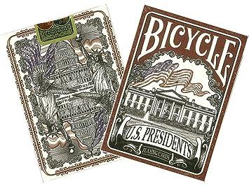 Bicycle- US Presidents Baraja de Poker de Colección (Naipes Heraclio Fournier 1033317)