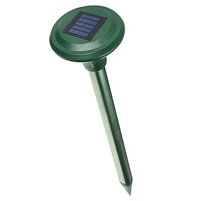 ISOTRONIC Répulsif Taupe Solaire Électronique à Ultrasons Chasse Taupe Solaire Intelligent