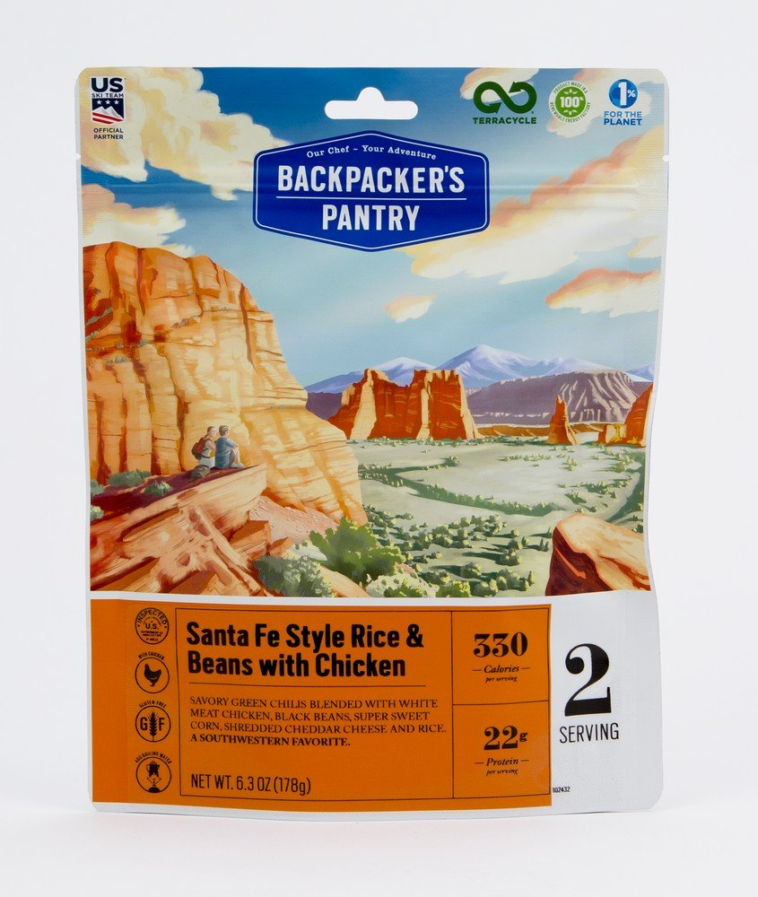 Backpacker's Pantry Santa Fe Style Rice with Chicken, Two Serving Pouch, (Packaging May Vary)​ by Backpacker's Pantry