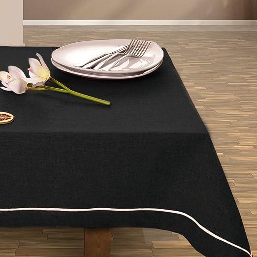 Negro Mantel Mantel Camino de mesa elegante Práctico Fácil de ...