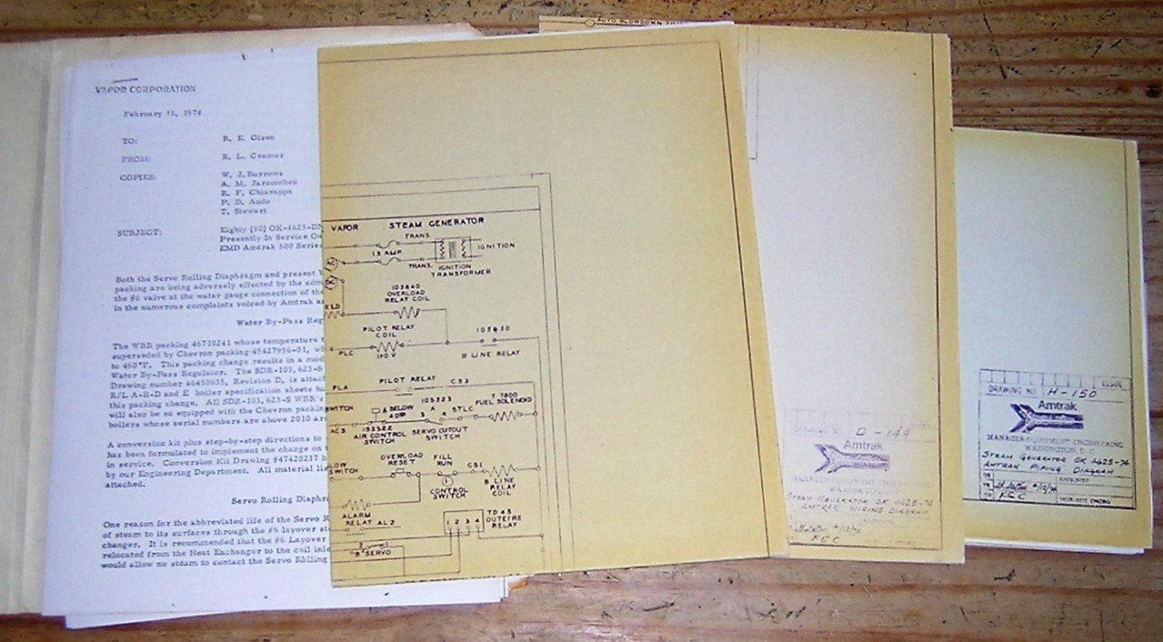 locomotive wiring diagrams amtrak blueprints drawing no d 149  steam generator ok 4625 74  amtrak blueprints drawing no d 149