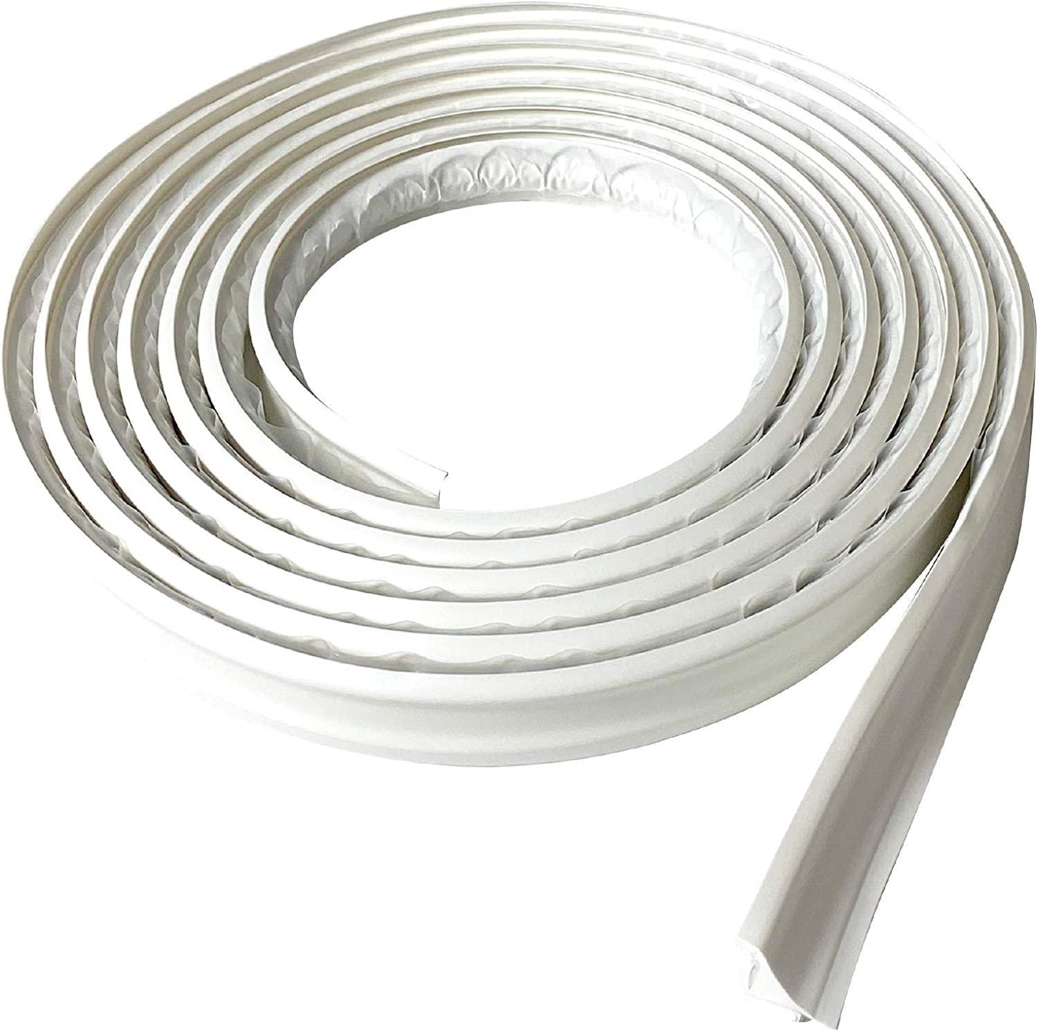 Baseboard White Ceiling Tile Edge Wall Corner Flexible Trim Caulk Strip Peel and Stick Trim for Molding Floor