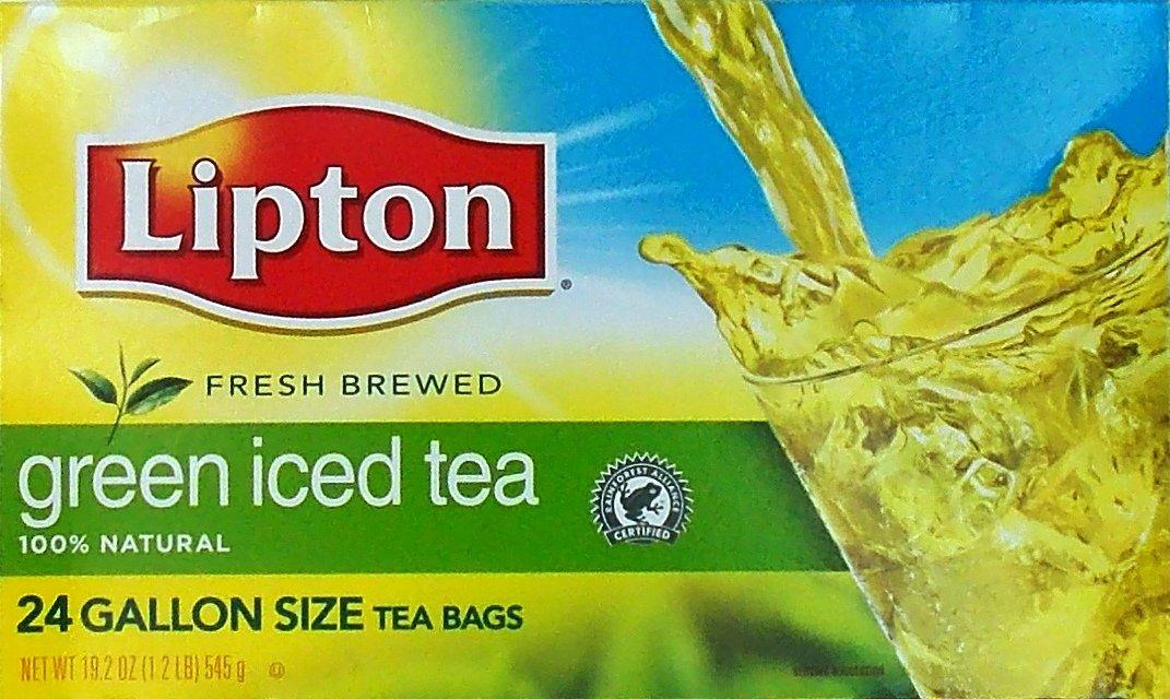 Lipton 100% Natural Green Iced Tea Gallon Size Tea Bags, 24 Count (19.2 Oz.)