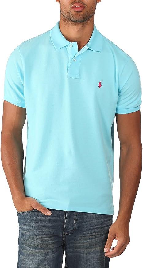 Ralph Lauren - Polo para hombre - Custom fit - Azul celeste - Talla ...
