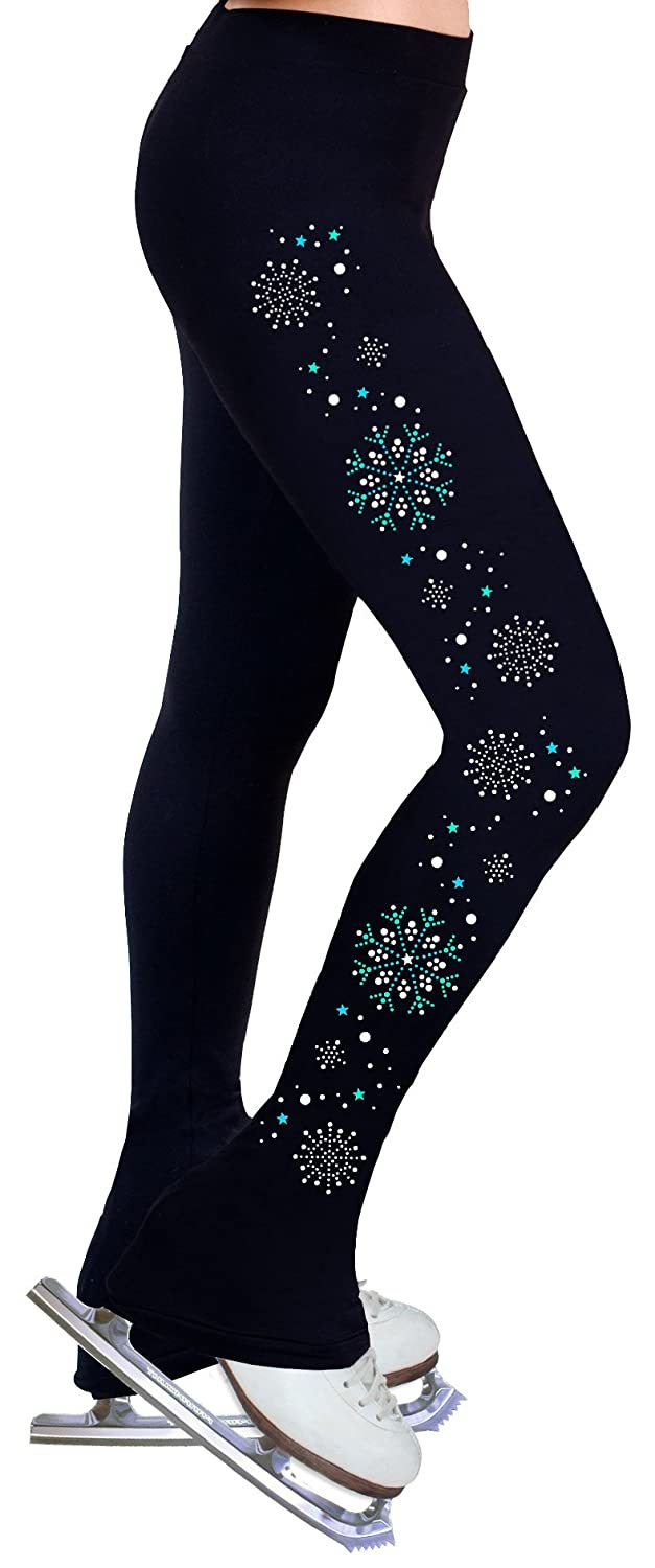 Figure Skating Practice Pants with spangles s107  Adult Extra Small
