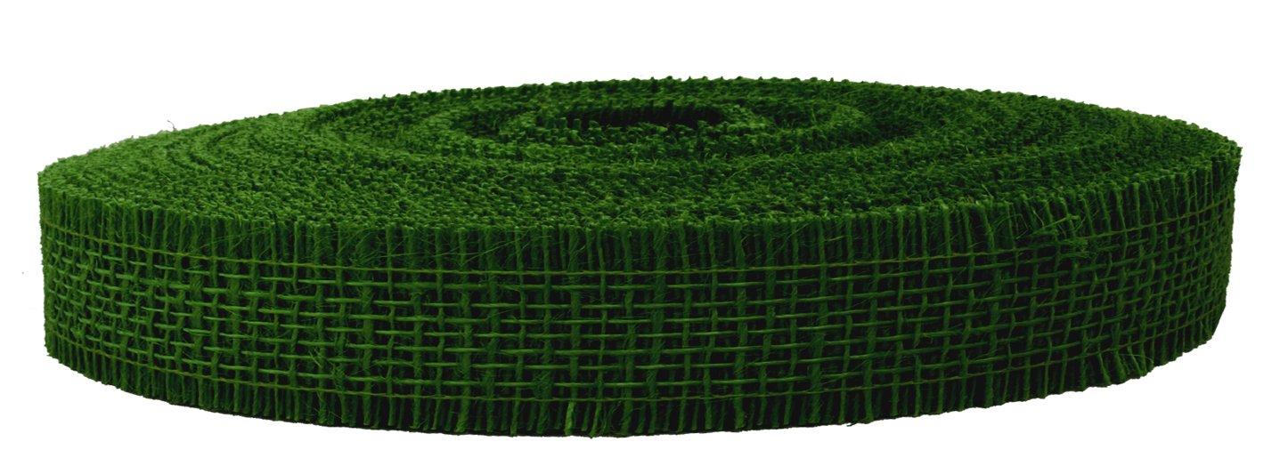 Yute banda Moosgrün 1Rollo b5cm X 40m