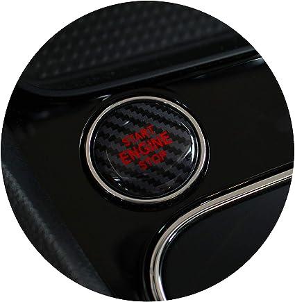 Gel Emblem Start Stop Knopf Abdeckung Aufkleber Keyless Go Carbon Druckschalter Tastenabdeckung Cover Zündung Finest Folia Dm004 Carbon Schwarz Rot Auto