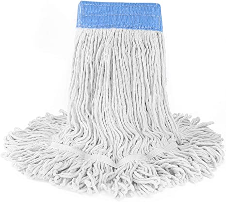 Large 6-Pack Basics Loop-End Synthetic Mop Head White 5-Inch Headband