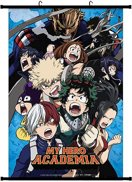 Boku no Hero Academia Midoriya Bakugou Shoto Dabi Wall Poster Scroll Room Decor