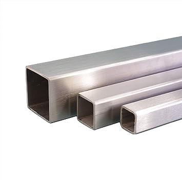 Korn 240 L/änge 500 mm Abmessungen 60 x 5 mm V2A Edelstahl Flachstahl Oberfl/äche geschliffen