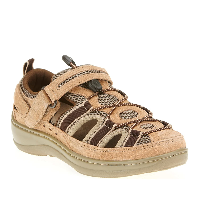 Orthofeet Proven Pain Relief Plantar Fasciitis Orthopedic Comfortable Diabetic Flat Feet Naples Womens Sandal B00PWJPX9C 6.5 B(M) US|Tan