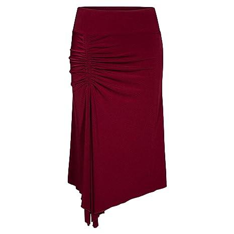 Rumpf RU5405 Bodrum - Falda para Mujer (asimétrica), Burdeos ...