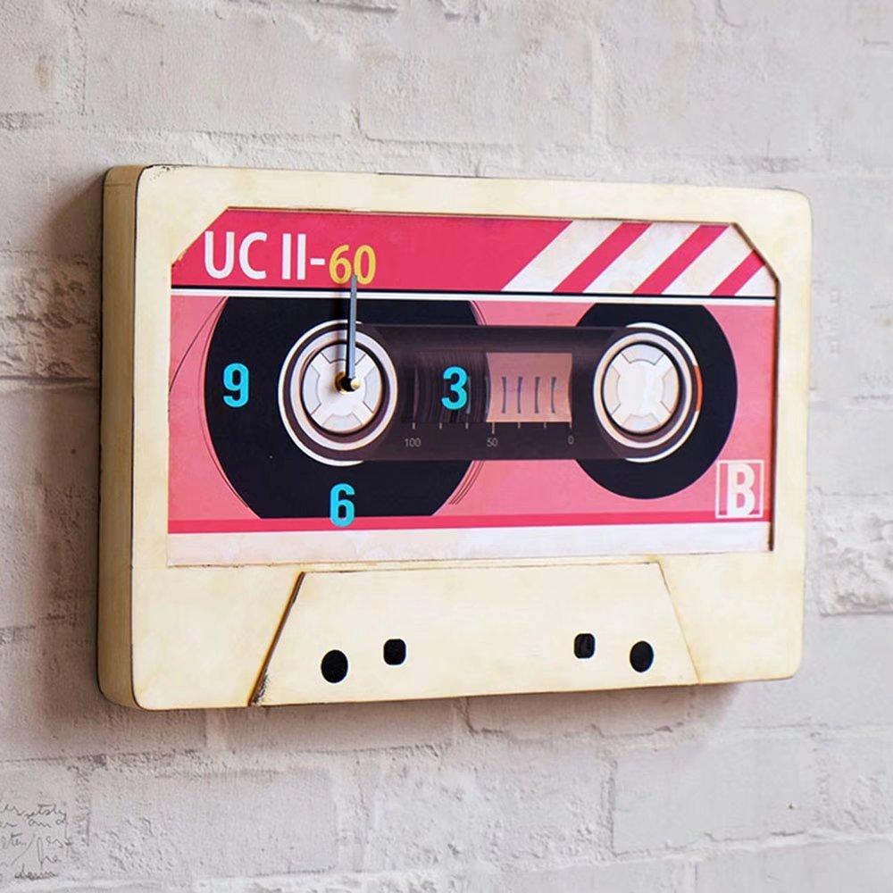 Amerikanische Retro- nostalgische Musikelement-Bandwanduhr - stumme Uhren - personalisierte Uhr