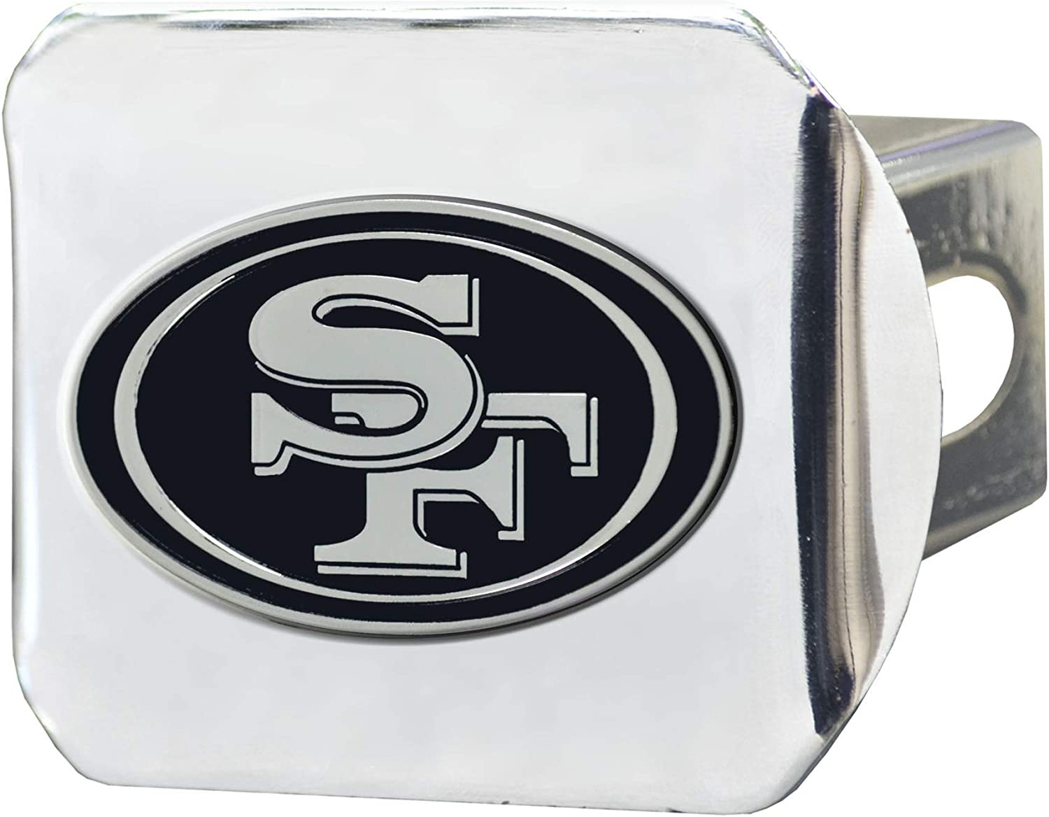 FANMATS Chrome 15626 NFL San Francisco 49ers Metal Hitch Cover 2 Square Type III Hitch Cover